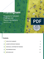 Framingham Diversity and Inclusion Report