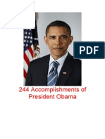 244 Accomplishments of President Obama