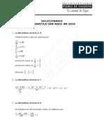 ensayo de matematica