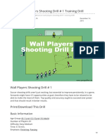 Sportsmomsurvivalguide.com-Soccer Wall Players Shooting Drill 1 Training Drill