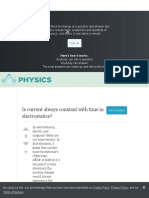 Is Current Always Constant With Time in Electrostatics? - Physics Stack Exchange