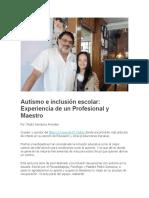 Autismo e Inclusión Escolar PARTE 1