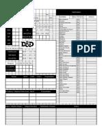 d&d Hoja Personaje 2.0 Editable