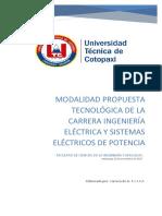 Modalidad Propuesta Tecnologica Electrica