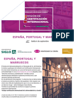 Mision Academica Espana, Portugal y Marruecos 2019