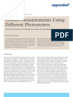 White Paper 028 - OD600 Measurements Using Different Photometers