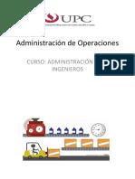 SESIÓN 12 - ADMINISTRACIÓN DE OPERACIONES