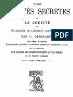 Les sociétés secrètes et la société (tome 1)