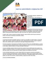 Consagración de Nuevas Autoridades Originarias Del Ayllu
