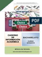 Caderno de información académica para 1º de bacharelato
