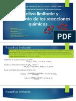 Reactivo Limitante y Rendimiento de Las Reacciones Químicas