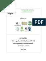 Buppe Anexo 3 Diploma Liderazgo,Creatividad y Sostenibilidad