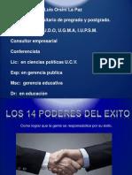 Curso Los 14 Poderes Del Exito, Autor Luis Orsini