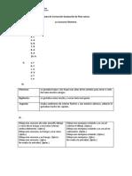 Pauta de Corrección Evaluación de Plan Lector