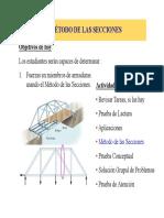 Estática - El Método de Las Secciones