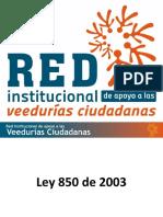11.2 - Ley 850 de 2003 (Veedurias Ciudadanas)