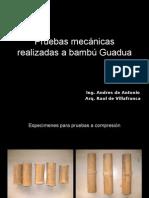 Pruebas mecánicas realizadas a bambú Guadua