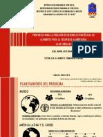 Presentación Proyecto de Investigación Reservas Estratégicas de Alimentos