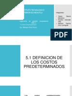 5.1 Definicion de Los Costos Predeterminados