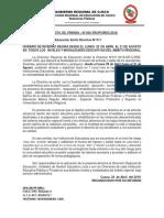 Nota de Prensa Drec 20 Cusco