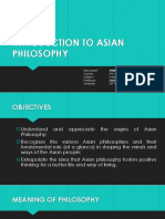 Introduction to Asian Philosophy