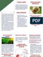 fertilización agrícola