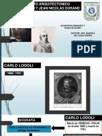 Pensamiento Arquitectonico de Carlo Lodoli y Louis Durand