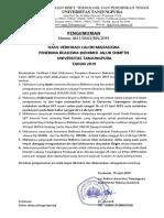 Pengumuman Bidikmisi SNMPTN-2019