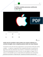 Suprema Corte Dos EUA Mantém Processo Antitruste Contra a Apple e a App Store