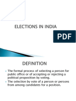 Elections in India Ashok Pptx