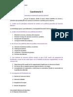 Asesoría aduanera cuestionario 5 + tarea fiscalización