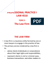 Topic 5 of Professional Practice on Law Firm