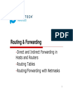 Routing and forwarding 11