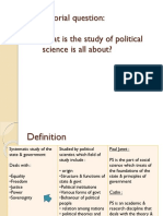 HOW DOES POLITICAL SCIENCE RELATE TO OTHER SOSCAL SCIENCE