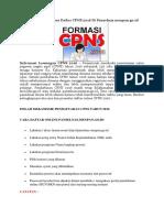 Informasi Tata Cara Daftar CPNS 2016 Di Panselnas.docx