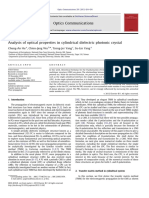 Analysis ofoptical properties in cylindrical dielectric photonic crystal