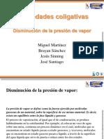Exposicion diminucion del punto de ebullicion diapositivas