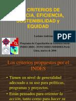Los Criterios de Eficiencia y Eficacia.1