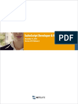 SuiteScript Developer and Reference Guide 15 2 pdf | Application