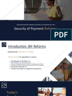 Security of Payments Presentation- Construction Lawyers