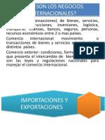 Exposicion Docente 1a Que Son Los Negocios Internacionales