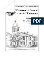 Worthless Check Booklet