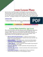 Drama Lesson Plan