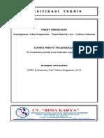 SPESIFIKASI TEKNIS JL Banjarsari Tambakmulyo.docx