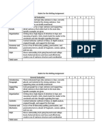 Rubric for the Writing Assignment.docx
