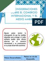 Consideraciones Sobre El Comercio Internacional y El Medio Ambiente