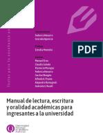 Navarro y Aparicio Manual de Lectura Escritura y Oralidad Para Ingresantes a La Universidad Planificar Un Informe de Lectura