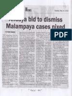 Malaya, May 14, 2019, Andaya bid to dismiss Malampaya cases nixed.pdf