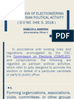 PROHIBITION OF ELECTIONEERING AND PARTISAN POLITICAL ACTIVITY.pptx