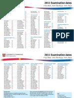 Exam Dates2011
